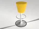 黄色吧椅3D模型下载