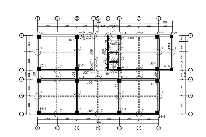 9层框剪结构宾馆结构施工图(CAD、37张)_3