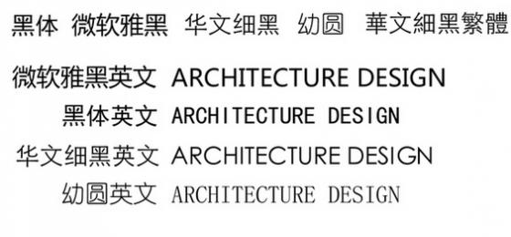 (关于字体)建筑学出图怎样才正确美观好看