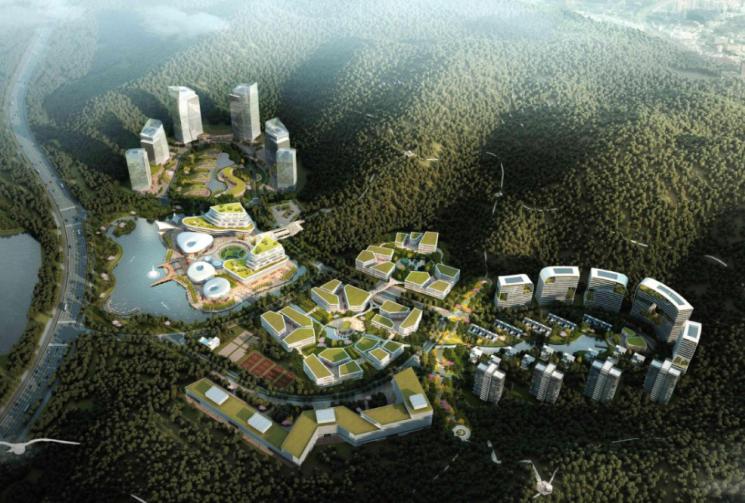 [广东]深圳某企业总部基地概念规划设计方案文本
