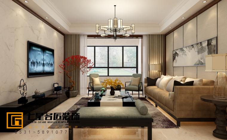 鼎秀家园127新中式户型设计