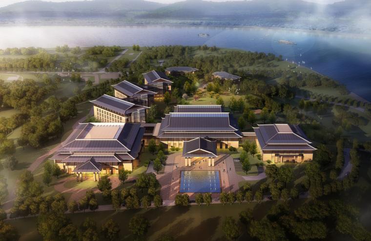 辽宁酒店度假新中式坡地多层建筑方案文本