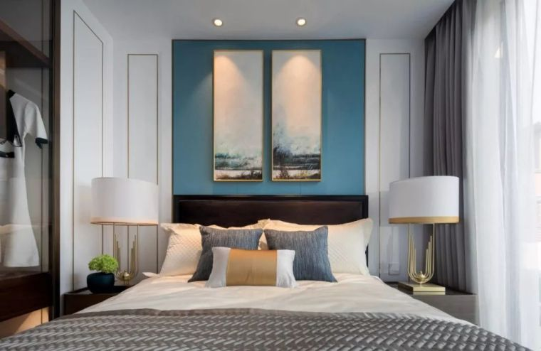 卧室背景墙别放空,这样设计美极了!_2