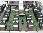 农机市场+住宅总图金湖总体模型