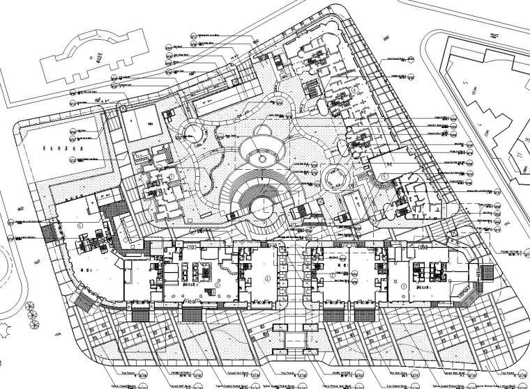 [上海]某耀江国际居住区景观设计全套施工图(包含+120个CAD)-总平面图