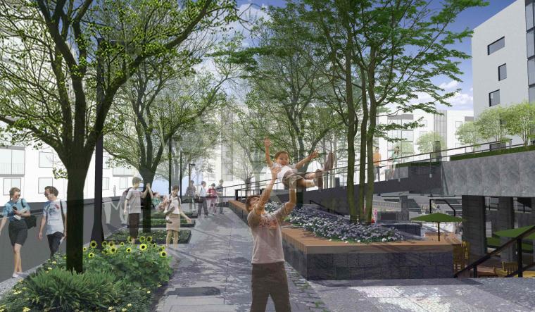 社区改造下沉广场景观方案设计文本(SU模型)_2