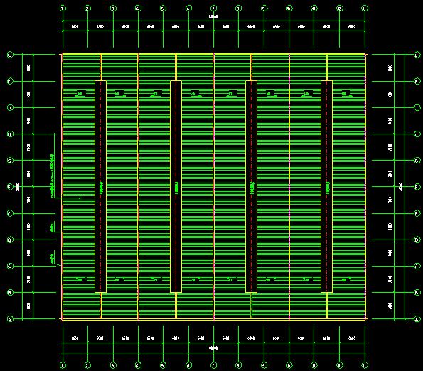 石狮公司70x80单层单山单跨门式刚架厂房施工图_1
