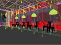 复古餐厅3D成套模型下载(附效果图)