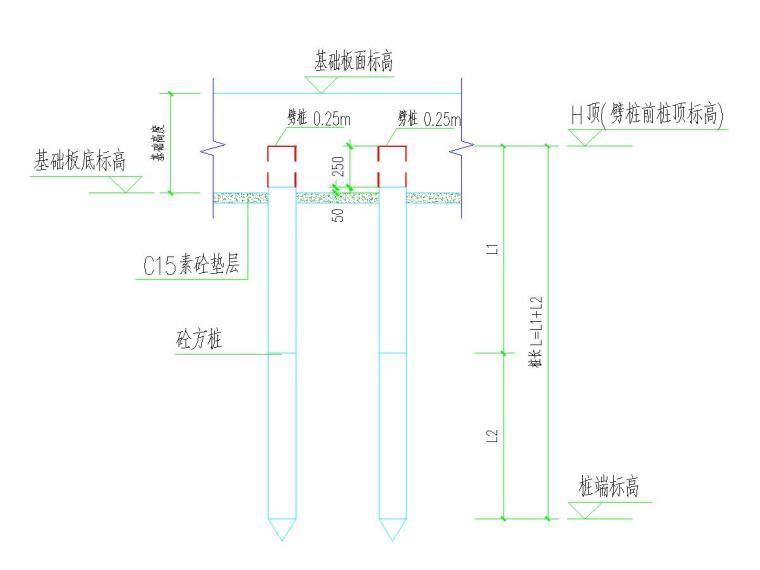 [江苏]预制混凝土方桩承台-防水板基础施工图