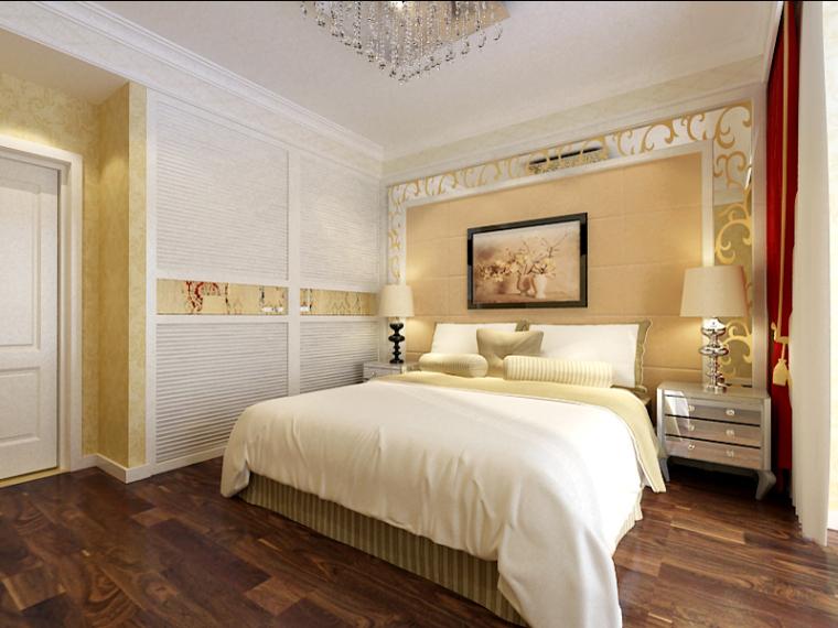 现代欧式卧室3D模型下载