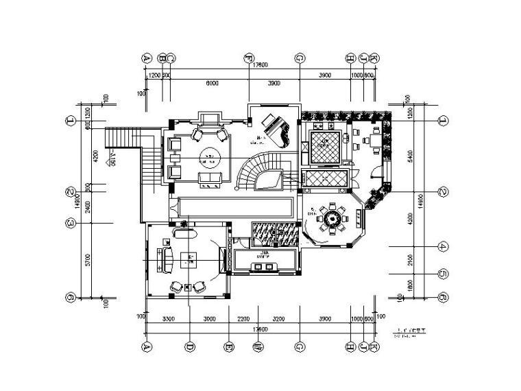 全套居住主题别墅CAD设计施工图(含效果图)