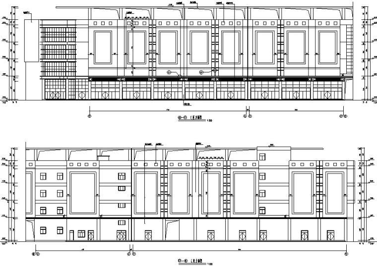 大型多层商场建筑设计施工图CAD