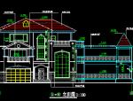 三层全套别墅建筑施工图