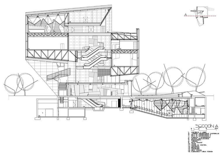 西班牙独特雕塑般构造的文化中心平面图 (30)