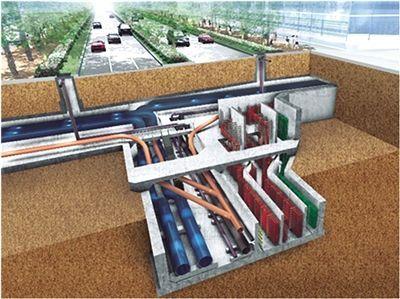 城市地下综合管廊内管道设计与敷设