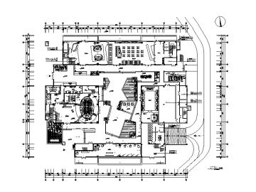 【江苏】某研究院办公楼设计CAD施工图(含效果图)