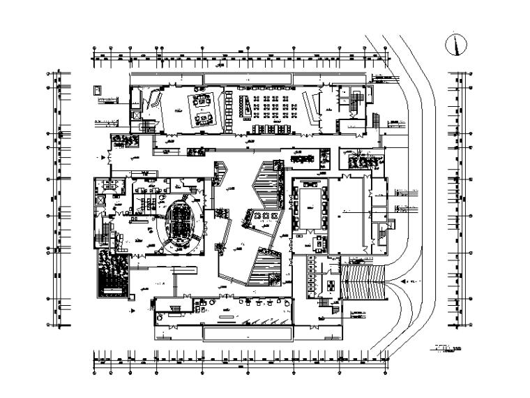 [江苏]某研究院办公楼设计CAD施工图(含效果图)