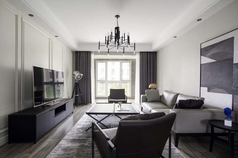 天津现代质感的住宅空间