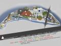 [重庆]水映长岛公园设计方案(含设计文本、SU模型、CAD图纸)
