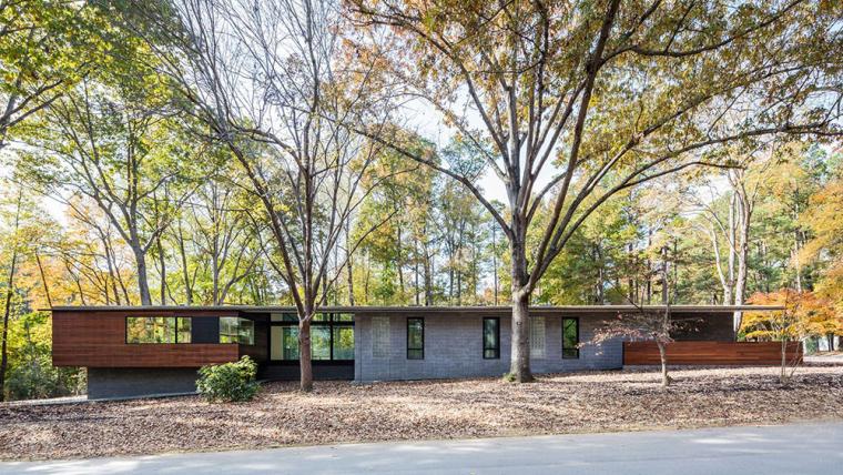 美国Cary小镇中的森林Trull小屋