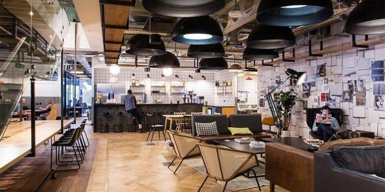咖啡厅风格的联合办公空间-帕丁顿区WEWORK联合办公室室内实景图 (2)