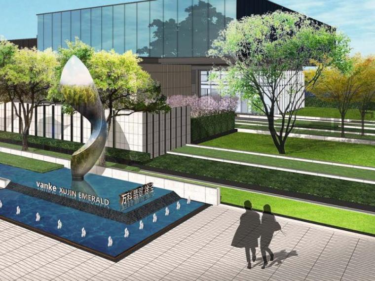 [上海]万科徐泾项目展示区景观方案扩初设计方案文本