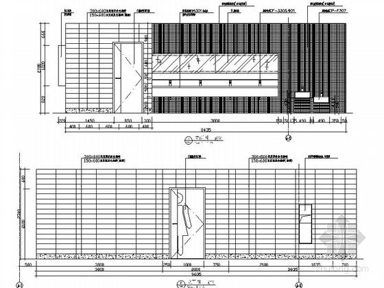 [昆山]繁华商业区现代百货商场室内CAD装修图(含效果)卫生间立面图