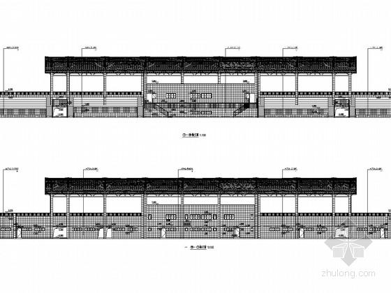 膜结构中学体育场看台结构施工图(含建筑图)