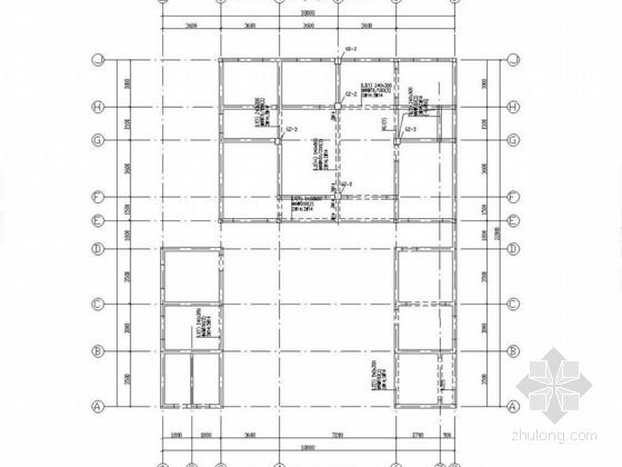 二层坡屋顶砖混别墅结构图