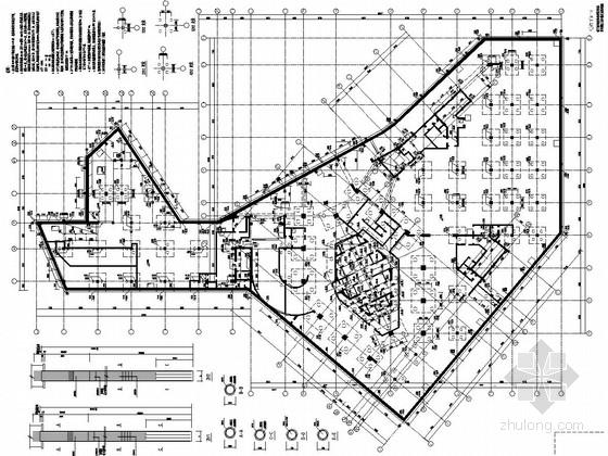 41层框架核心筒超高层综合商业办公大楼结构施工图(含计算文件,107张图)