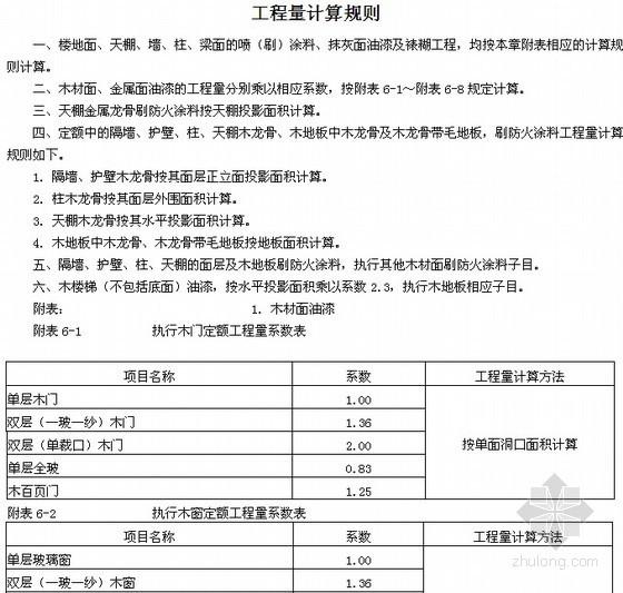 [湖北]屋建筑与装饰装修工程定额说明及计算规则(2013版)