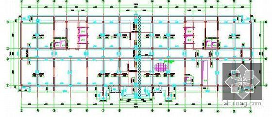 [北京]教育实习基地项目建设工程施工招标文件及投标文件(附全套图纸报价施组)-基础底板配筋平面图