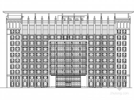 [内蒙古]11层现代风格教育办公楼建筑设计施工图( 图纸精细 顶尖设计院)