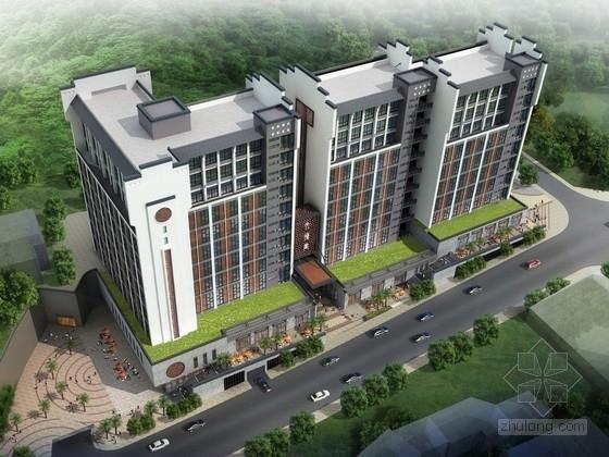 [深圳]徽派风格饮食文化商业中心建筑设计方案文本