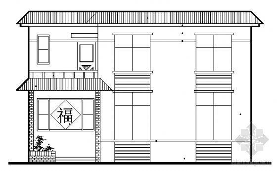 [山西]新农村建设某二层农村住宅建筑方案图