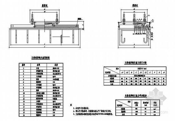 公路跨长江特大组合体系桥梁主桥球形钢支座构造图节点详图设计
