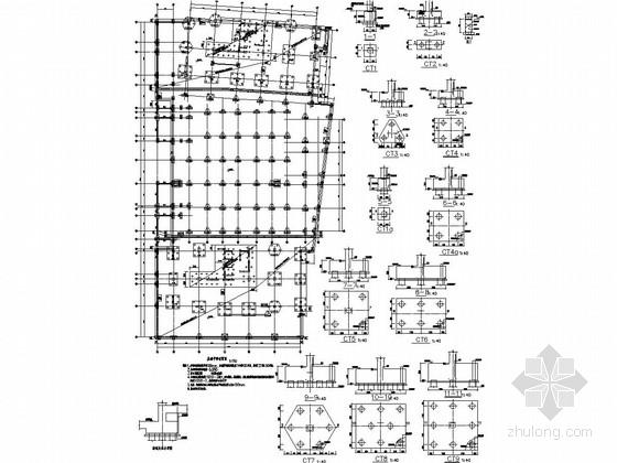 [上海]大型多幢办公住宅商业综合楼结构施工图
