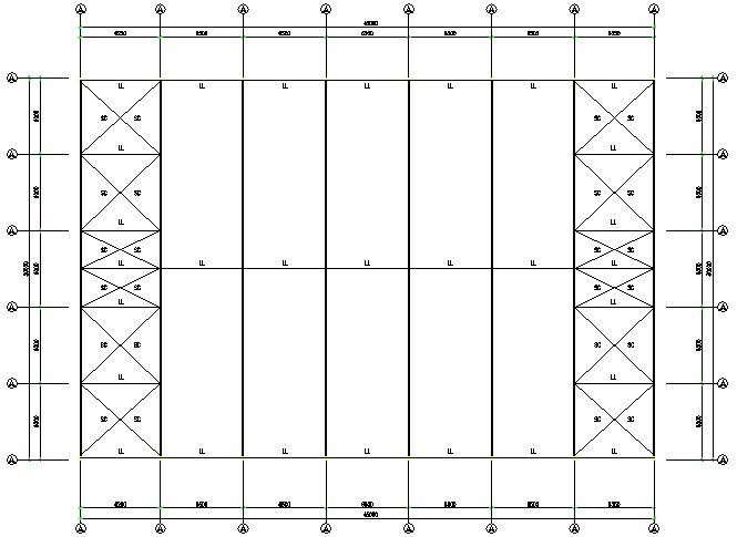 河南火电厂单跨门式刚架厂房钢结构工程施工图(CAD,8张)_4