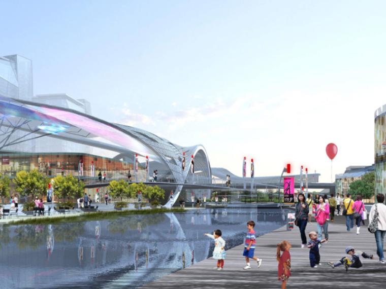 [江苏]苏州工业园区金鸡湖畔文化水廊区域商业街景观设计