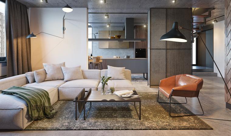基辅工业风公寓:将厚重与轻盈完美平衡_1