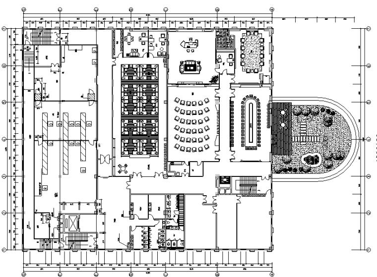 现代简约办公空间装修CAD图纸