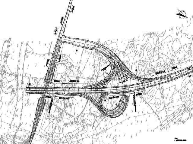 [内蒙古]4X25组合箱梁单喇叭互通立交工程设计图468张PDF(含路涵,2座单喇叭桥)