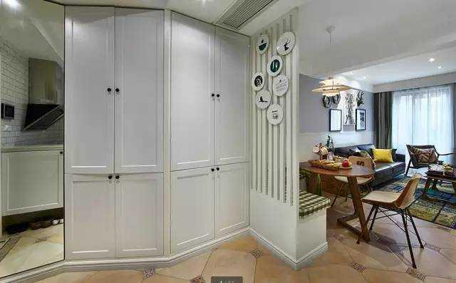 75㎡小三房,北欧与美式混搭,客餐厅一体如何设计?