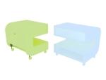 沙发角柜3D模型下载