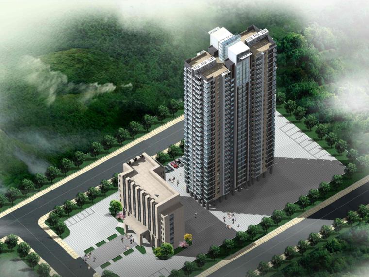 小高层住宅楼工程量计算式实例(含广联达文件)
