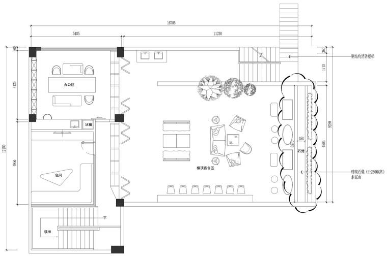 海口别具一格的海边酒馆建筑平面图 (31)