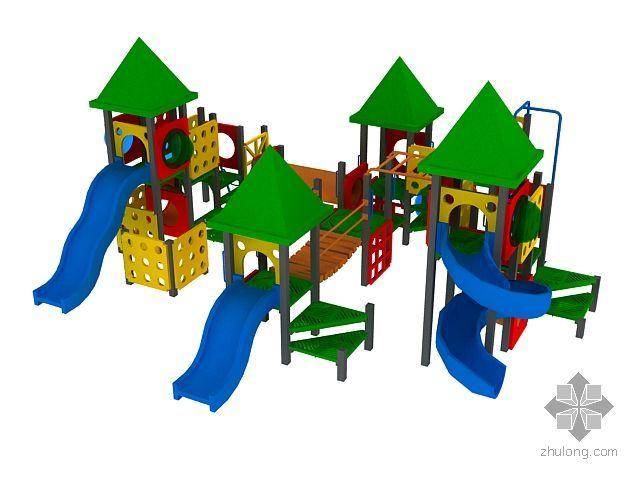 儿童游乐场设施-一组滑梯