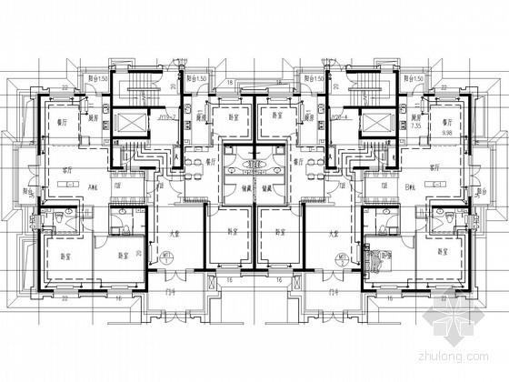 [黑龙江]小区高层住宅供暖通风施工图(大院设计 图面美观)