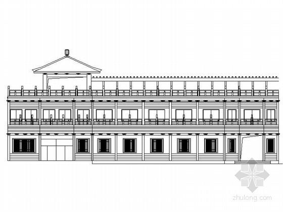 [仿古建]海盐某二层古玩交易市场建筑方案图