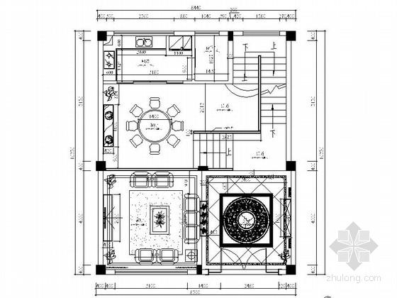 [江西]古典简欧风情五层别墅装修施工图(含效果)